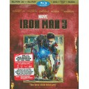 Iron Man 3 3D Blu-Ray 3D + Blu-Ray + DVD